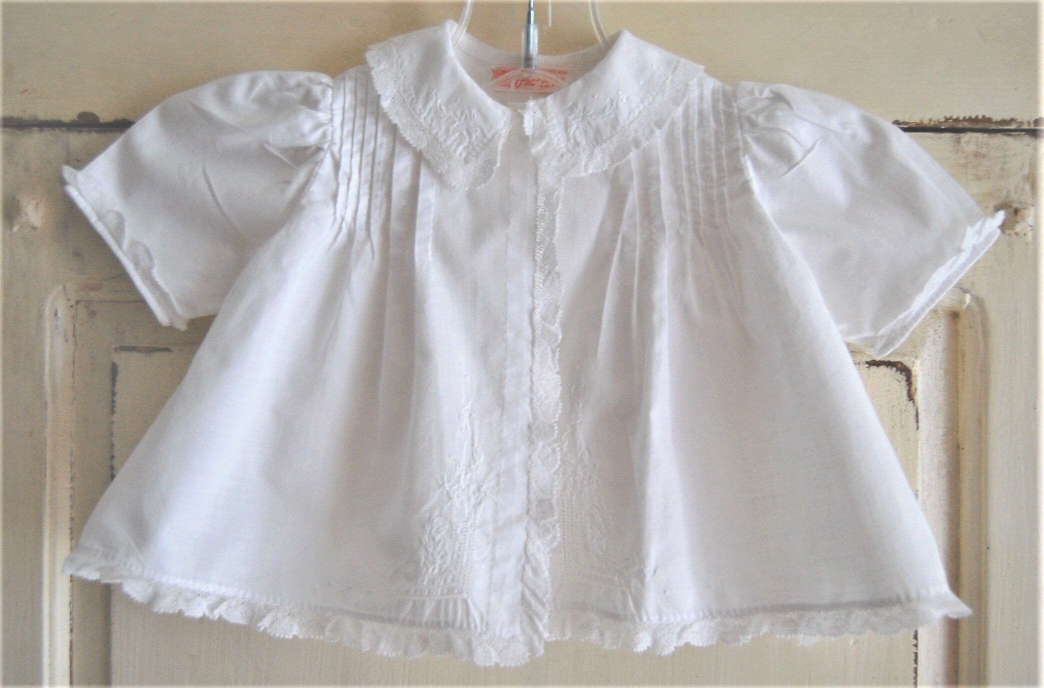 c1d80bf32a55 Vintage Baby Clothes Baby Girl White Batiste Cotton Jacket