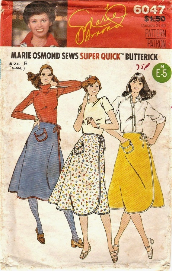 Vintage Sewing Patterns Wrap Skirt Pattern 70s Wrap Skirt Etsy