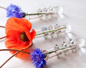 Glass Hanging Vase Necklace