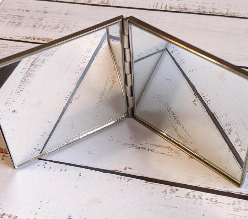 Vintage Silver Compact Mirror