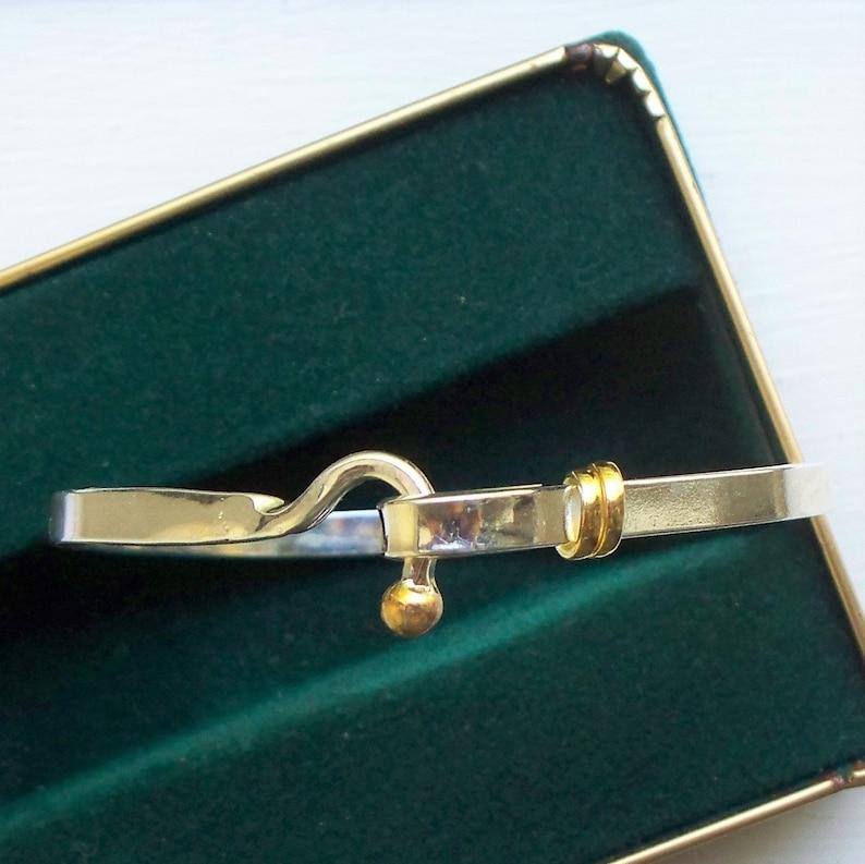 5692f579f Sterling Gold Tiffany Style Bracelet 925 Sterling Bangle | Etsy
