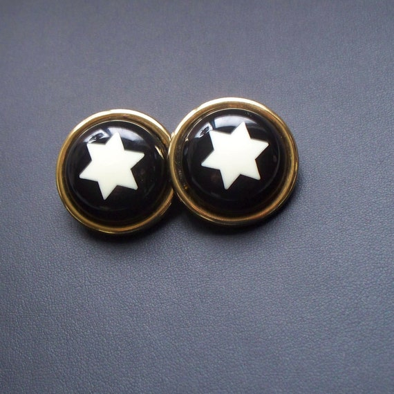 1990's Moschino Star Earrings - Designer Moschino,