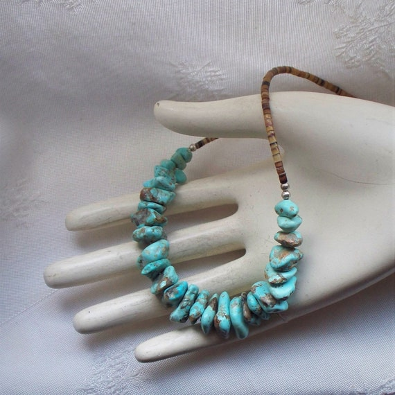 Turquoise Nugget Necklace - Native American Turquo