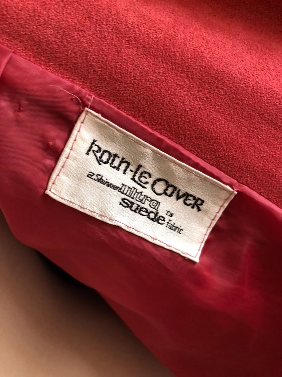 Pink suede Womens trench coat - image 6