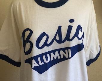 Vintage basic alumni ringer tee