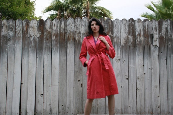 Pink suede Womens trench coat - image 7