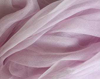 Powder Pink Silk Chiffon Gauze - Photo Prop - Newborn Wrap - Low Shipping - Felting Supplies
