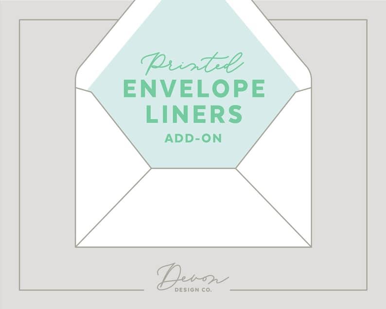 custom envelope liners wedding invitation add-on printed image 0