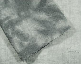SHALE Pale or Medium Grey Hand Dyed Hemp Fabric, Linen Needlework Fabric Quarter Yard, Historical Reproduction Fabric