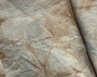 LONDON FOG 30 count Cross Stitch Linen, Taupe & Blue Cross Stitch Fabric