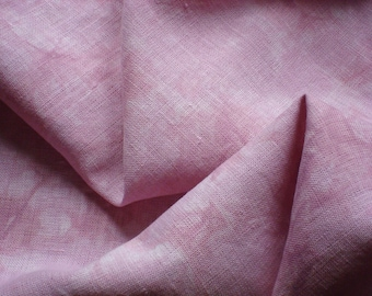 VICTORIAN ROSE Pink Hand Dyed Fabric for Cross Stitch 30 count, Quarter Yard