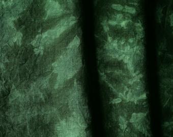 HELSINKI Forest Green 30 count Cross Stitch Linen Fabric, Hand Dyed Linen Quarter Yard