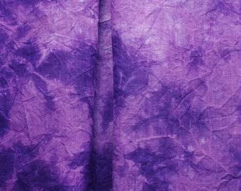 EDINBURGH Purple Linen Embroidery Fabric, Violet Hemp Fabric for 18th Century Reproductions, Costuming