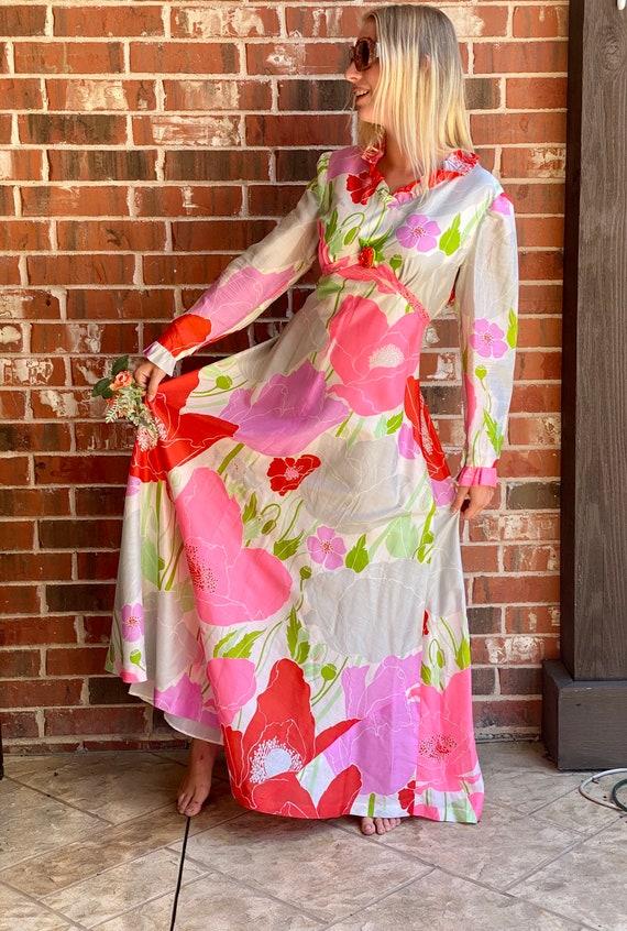 Floral 1960s Maxi Dress