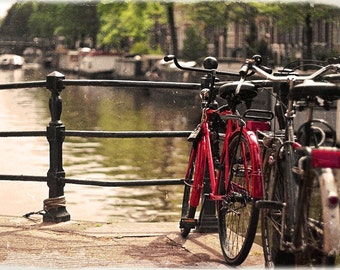 Red bicycle, Amsterdam