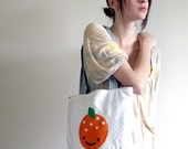 Tacky Top Hat Clearance- Sweet Tangerine Applique Tote Bag