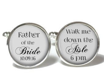 Father of the Bride Cufflinks Personalized Style 685
