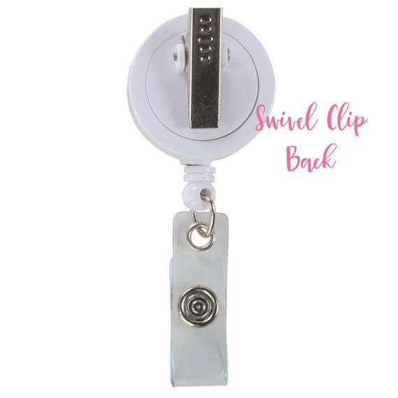 Nurse Badge Holder Custom Name Badge Reel Badge Clip ID Holder Badge Name Holder Nurse Badge Reel GG4703 Retractable Badge Holder