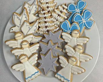 Angel Christmas Cookies Christmas Sugar Cookie Gift Set 18 Cookies