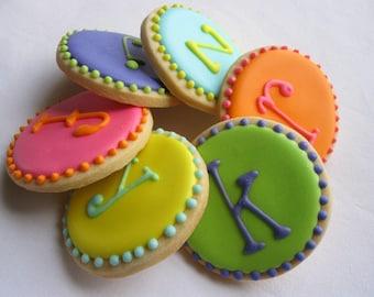 MONOGRAM DOT Sugar Cookie Party Favors, 1 Dozen