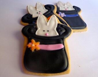 PEEK a BOO BUNNY Sugar Cookie Party Favors, 1 Dozen