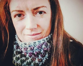CROCHET PATTERN - Hearts cowl (adult/child)