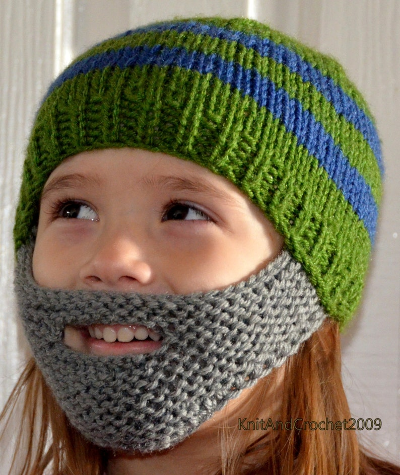 Beard Hat Beard Beanie Kids-All Sizes All Colors Non Itchy  f1ccd6bfcec