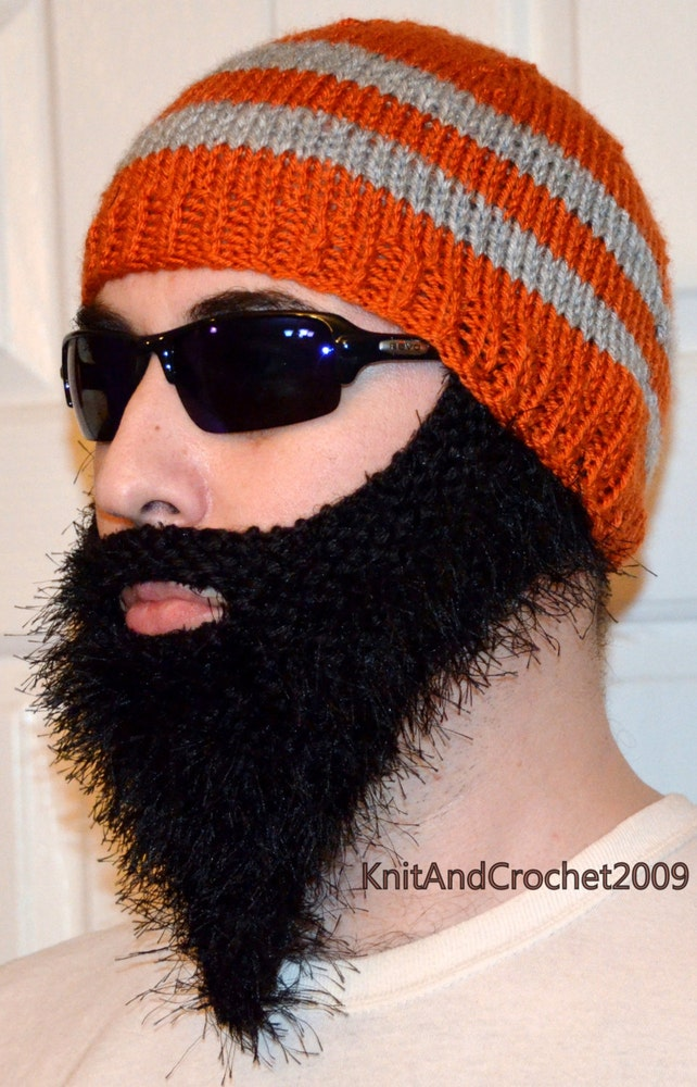 Gorrita tejida barbudo barbudo Hat Cap barba gorro de barba | Etsy