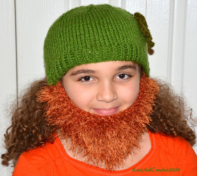 52f45e60c55 St Patricks Day Bearded Beanie Irish Red Chin Beard Hat