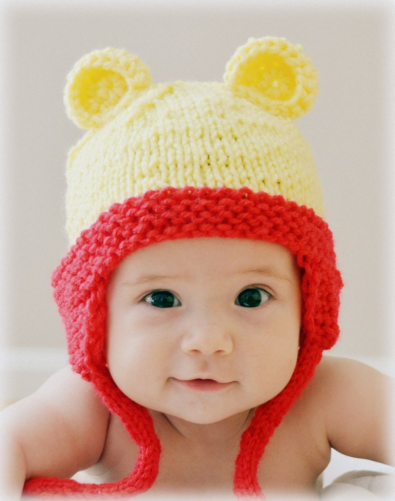 Teddy Bear Hat Winnie The Pooh Baby Hat Photo Prop Knitted  6e1067ca94e