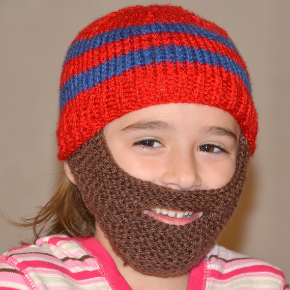 6f75bda8736 Beard Hat Knitted Beard Beanie Kids-All Sizes All Colors