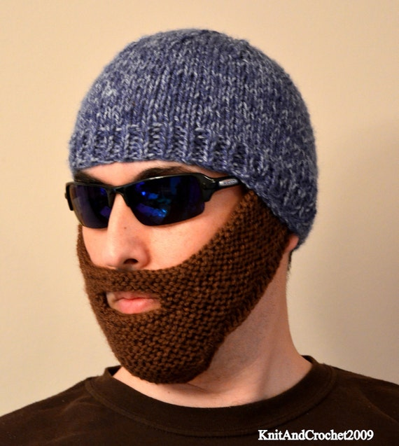 Beard Hat Knitted Beard Beanie Adult Size All Colors Etsy
