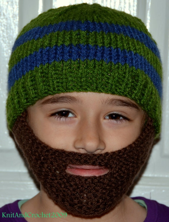 Beard Hat Knitted Beard Hat Beard Beanie Kids-All Sizes  df1efbf2f14