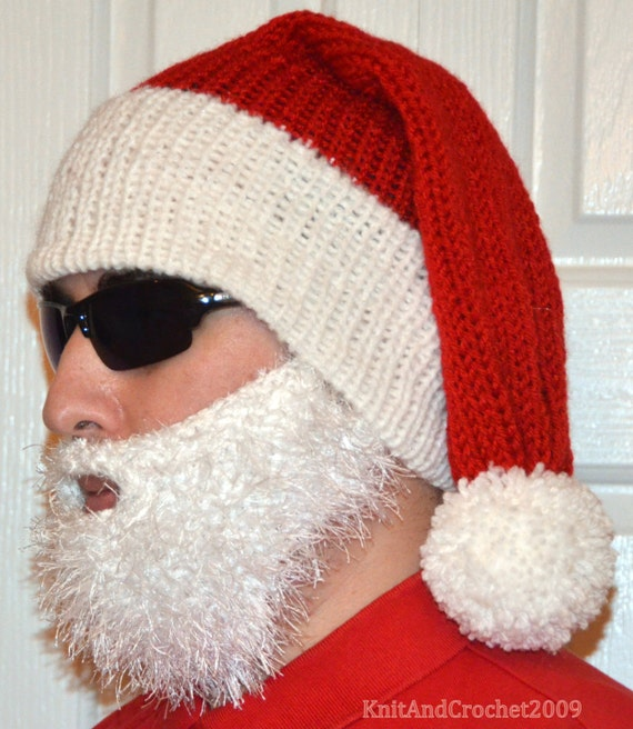 LONG BAD SANTA HAT HANDMADE KNITTED SANTA HATCHRISTMAS PARTY HATUNISEX