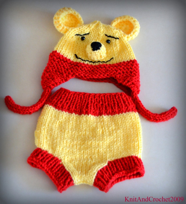 Winnie The Pooh Baby Hat Diaper Cover Set Photo Prop  dd172ffb971