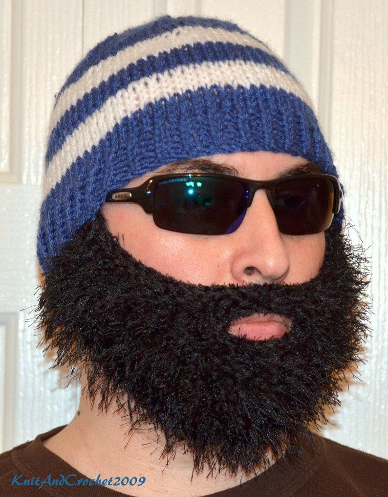 9d1330eb8b9 Beard Beanie Knitted Beard Hat Adult Size Beard All Colors