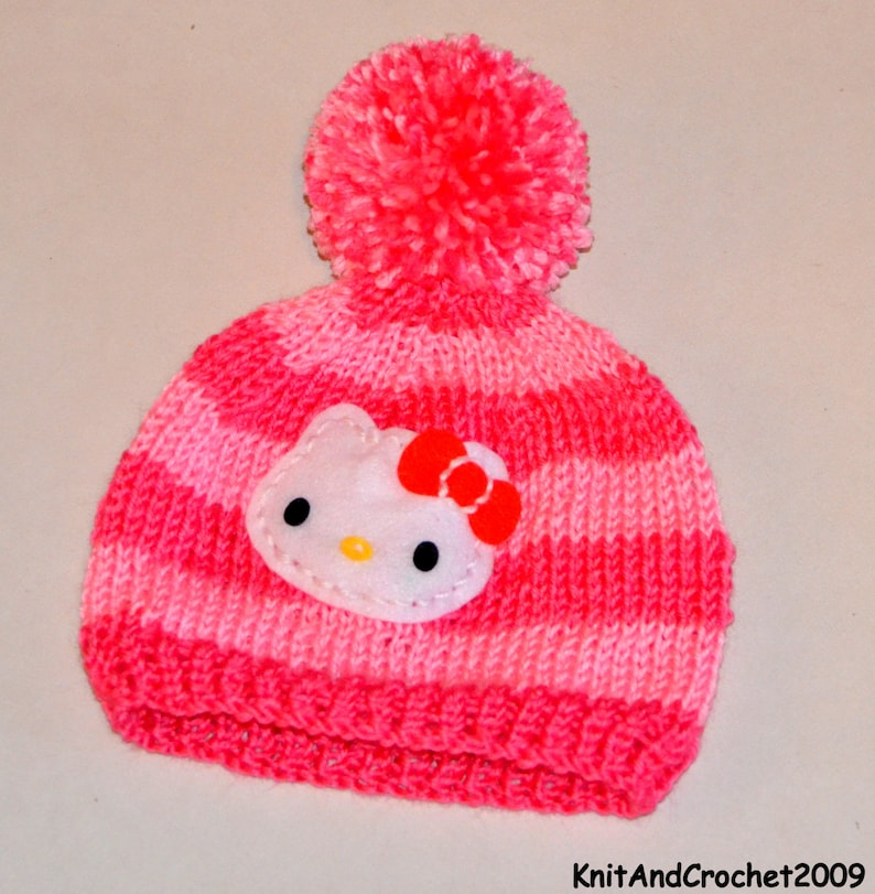 Hello Kitty Hat Crochet Hello Kitty Hat Crochet Hat Etsy