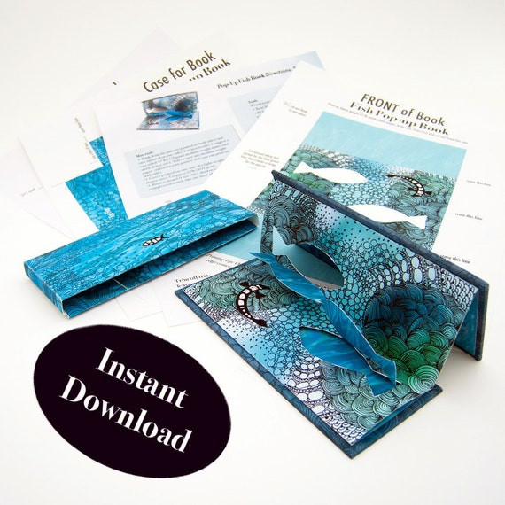 How To Make A Pop Up Book And Case Pop Up Tutorial Instructions On How To Make A Slipcase Without Glue