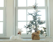 Snowball Christmas Garland, White Felt Snow, with LARGE felted balls, Christmas Tree, Holiday Decorating, Winter Wonderland, Rustic Country