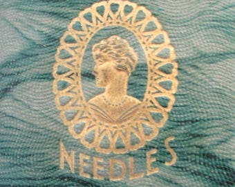 Victorian Needle Case Sewing Kit Dated 1914 Heath & Gills Superfine Needles Czechoslavakia Holland needles