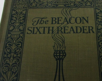 The Beacon Sixth Reader by James Fassett Vintage Book Antique Childrens Reader  First Edition