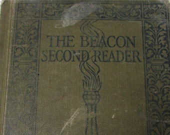 The Beacon Second Reader by James Fassett Vintage Book Antique Childrens Reader  First Edition 1914
