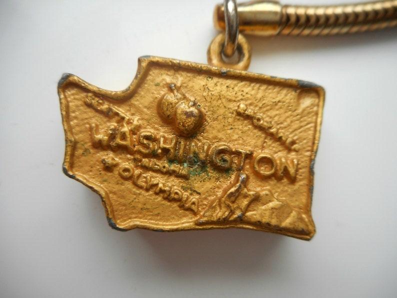 1960s State of Washington Key Chain Washington Collectible Souvenir The Evergreen State