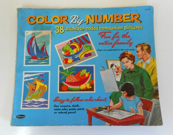 1960s Vintage Color by Number Book Whitman Coloring Book PBN Number ...