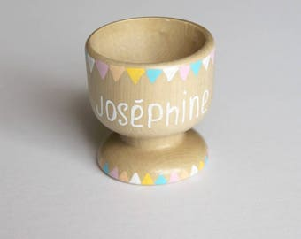 Custom wooden - circus candy egg Cup