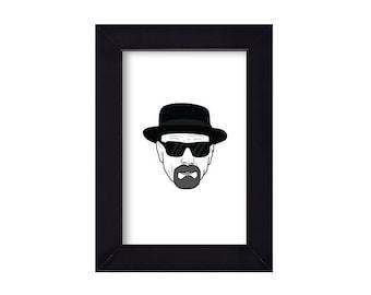 4 x 6 Framed Heisenberg / Walter White / Breaking Bad Portrait