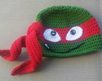 Ninja Turtle Hat made to order.