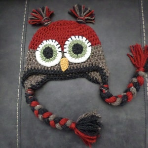 Custom made to order for your size and color Owl Hat