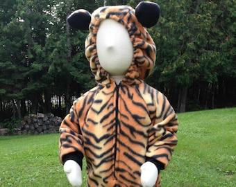 Instock Fleece Tiger Cat Costume