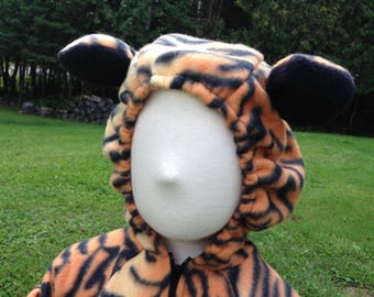 Custom Fleece Tiger Cat Costume